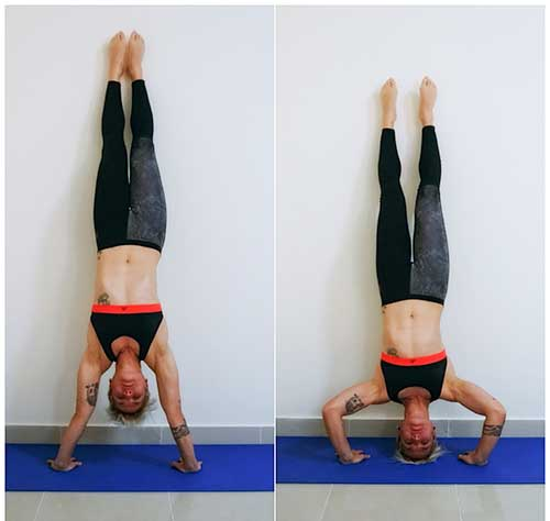 how to do hand stand push up