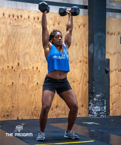 clean and jerk with dumbbells