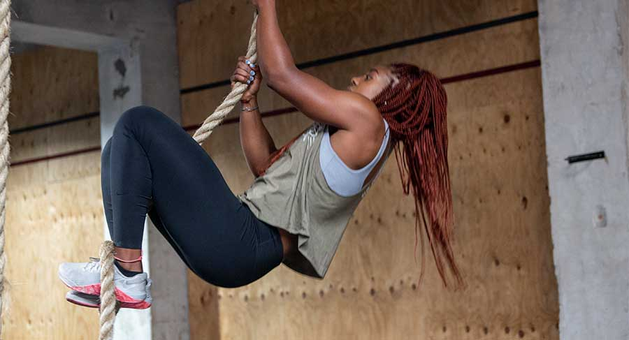 how to rope climb