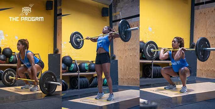 squat clean technique